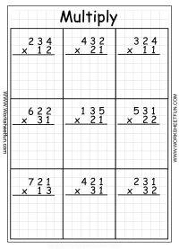 FREE Multiplication Worksheets www.homeschoolgiveaways.com Grab these free math printables for your upper elementary students!
