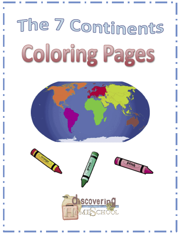 The Seven Continents Coloring Pages Free Homeschool