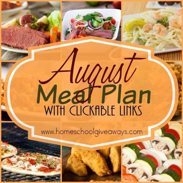 Make evenings a little less stressful with this downloadable August Meal Plan. Includes clickable links to all recipes plus ideas for breakfast, lunch, snacks & desserts! :: www.inallyoudo.net