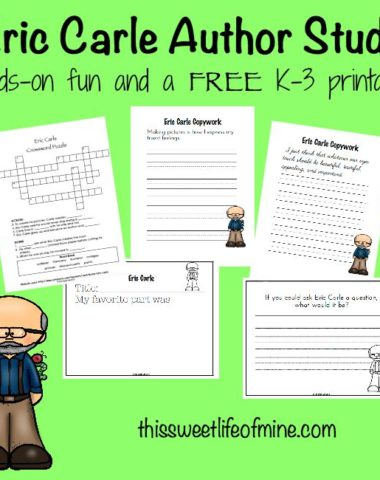 Eric Carle Author Study with FREE Printables | homeschoolgiveaways.com