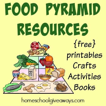 Food Pyramid Resources Free Printables Crafts Activities More Homeschool Giveaways