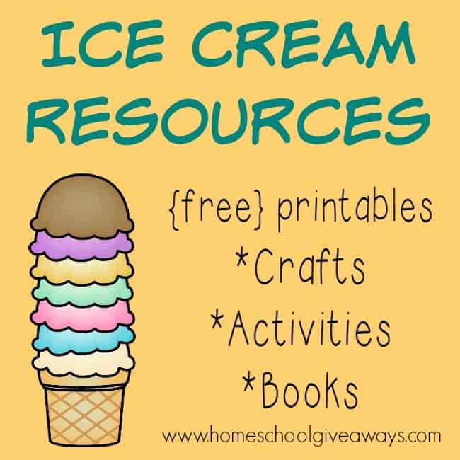 Summer is the perfect time for all things Ice Cream! Check out this HUGE list of resources to make learning even more fun! :: homeschoolgiveaways.com