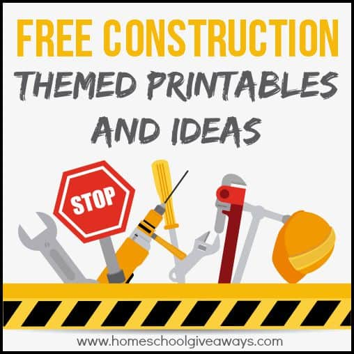 Free Construction Themed Printables And Crafts Homeschool