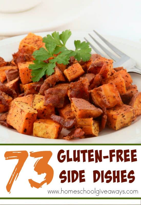 Looking for some new Gluten-Free Side Dishes? Check out this HUGE list of 73 different options! :: www.homeschoolgiveaways.com
