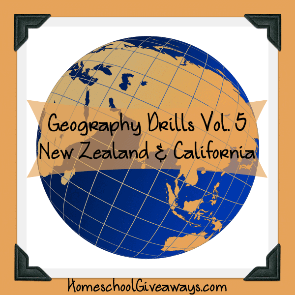 Free Geography Drills Volume 5 - New Zealand and California