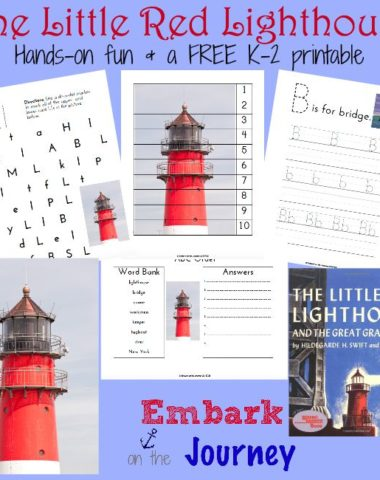 Free printable for The Little Red Lighthouse and the Great Gray Bridge | Five in a Row | homeschoolgiveaways.com
