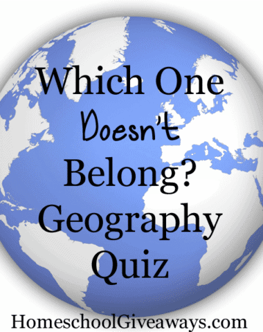 Which One Doesn't Belong Geography Quiz