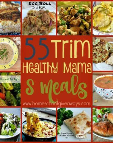 """The Trim Healthy Mama (THM) Lifestyle couldn't be any easier when you get to eat meals like these 55 """"S"""" meals! :: www.homeschoolgiveaways.com"""