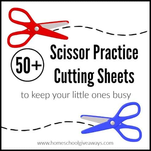 50+ Scissor Practice Cutting Sheets To Keep Your Little Ones Busy! -  Homeschool Giveaways