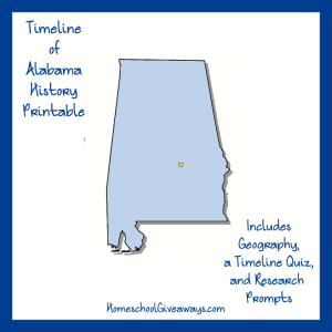 Alabama State History Printable