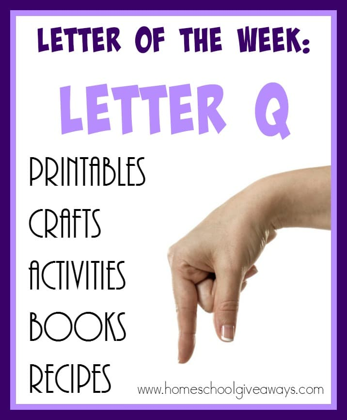 """Teaching the letter """"Q"""" can be tricky. It's a letter that gets confused a lot, but here are 75+ resources to help you out! :: www.homeschoolgiveaways.com"""