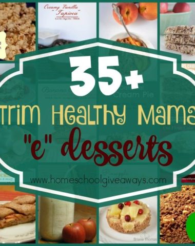 "It's easy to stick to the THM Lifestyle with these DELICIOUS ""E"" desserts on the menu! Over 35 to choose from in this list! :: www.homeschoolgiveaways.com"