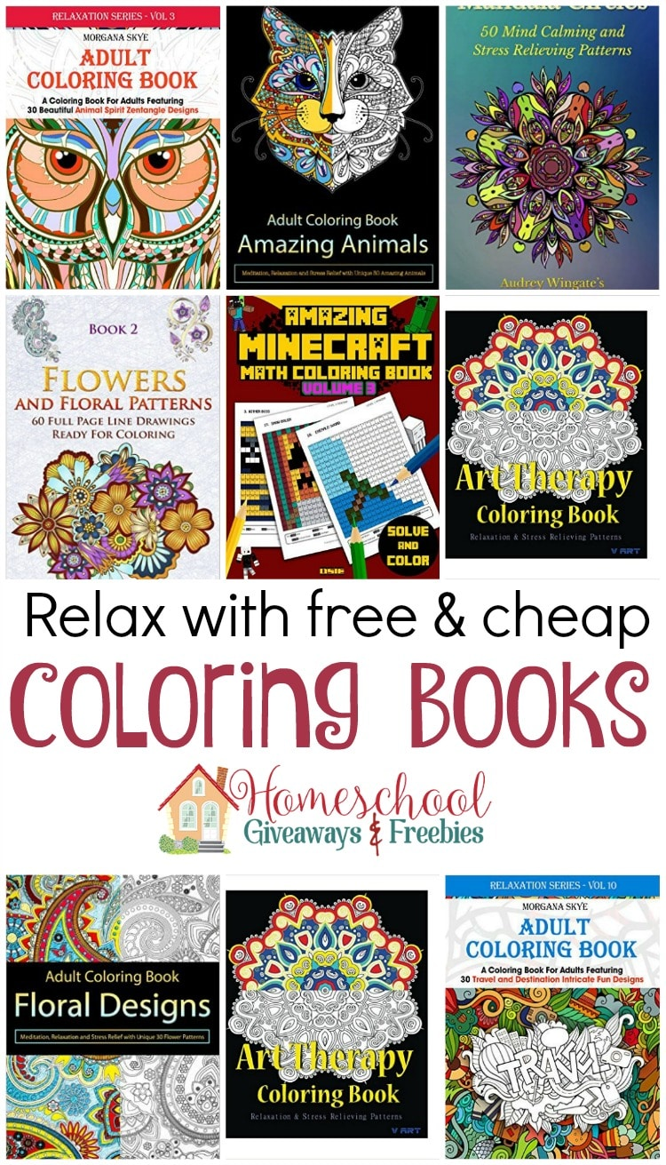 Free and Cheap Kindle Coloring Books - Homeschool Giveaways
