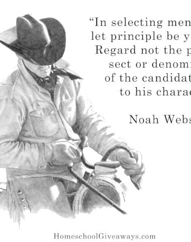 Noah Webster Prayer and Character