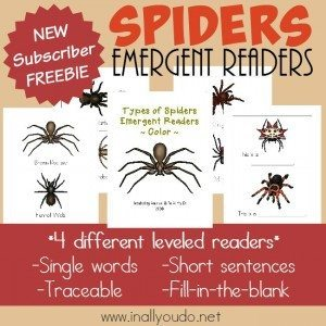 FREE Spiders Emergent Readers_square