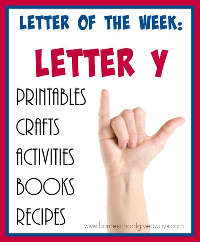 """Make learning the Letter """"Y"""" fun and exciting with these AWESOME resources! From {free} printables to crafts to activities to books and recipes! :: www.homeschoolgiveaways.com"""