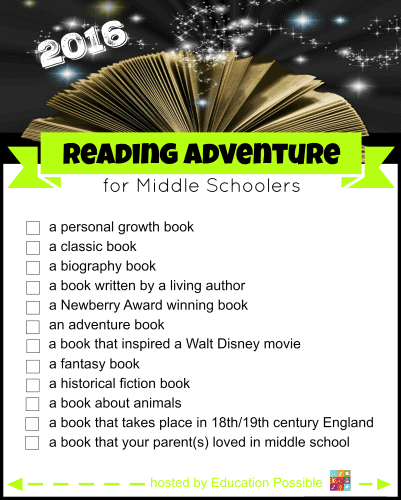 2016-Reading-Adventure-for-Middle-Schoolers-Main-Image-with-Checklist-12-months-1-401x500