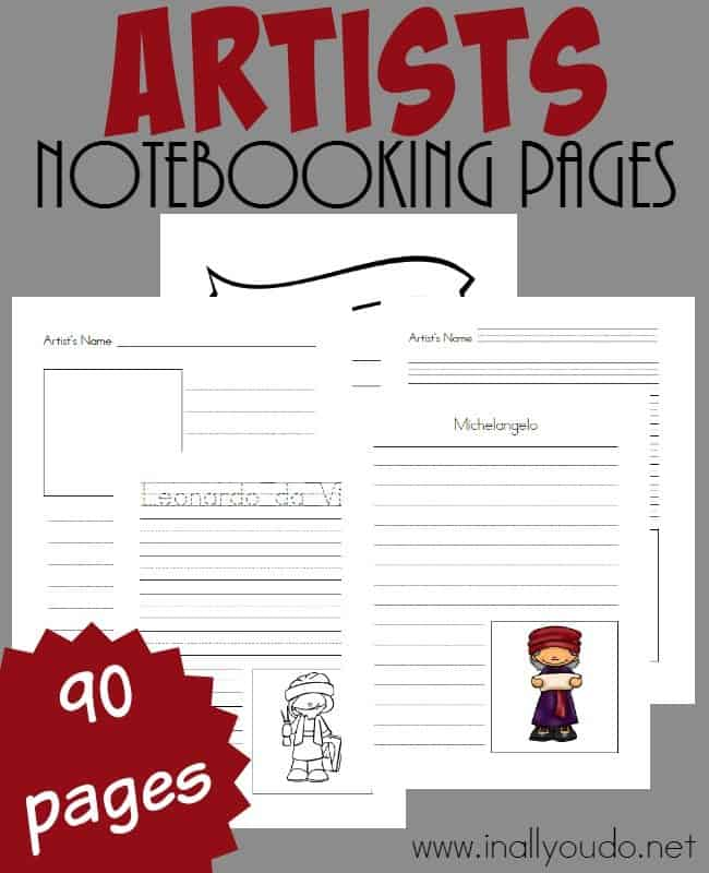 FREE Artist Notebooking Pages_long