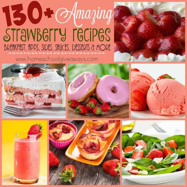Strawberries are one of those fruits I could eat daily, especially with all these AMAZING recipes to choose from! Breakfasts, Sides, Appetizers, Desserts, Jams, Sauces and MORE! :: www.homeschoolgiveaways.com