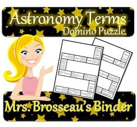 Astronomy Terms Domino Puzzle Cover