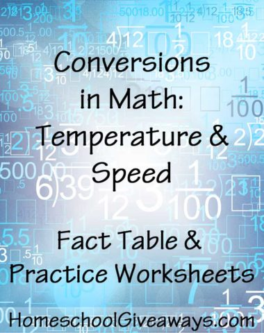 Conversions in Math Temperature and Speed