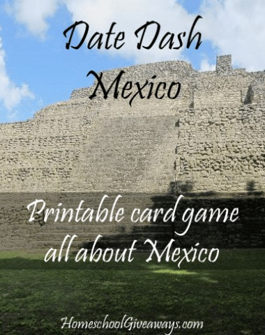 Date Dash Mexico - Mexican History Card Game