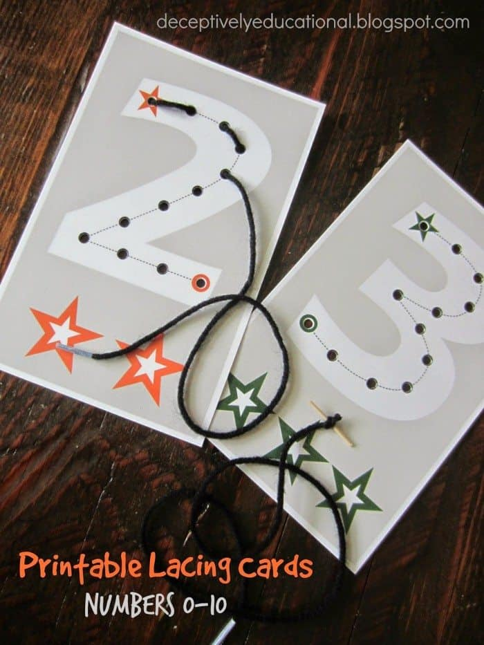 Printable Lacing Cards