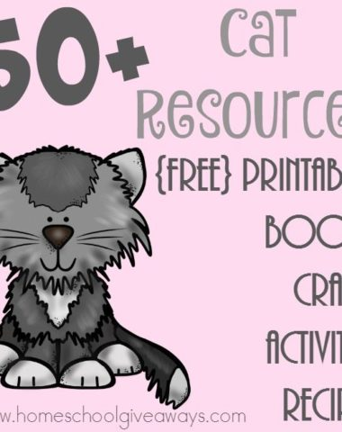 Learning about Cats? Check out this HUGE list of resources including printables, crafts, activities, books and recipes! :: www.homeschoolgiveaways.com