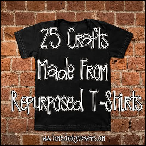 25 Crafts Made From Repurposed T-Shirts - Great for Teens and Summer projects