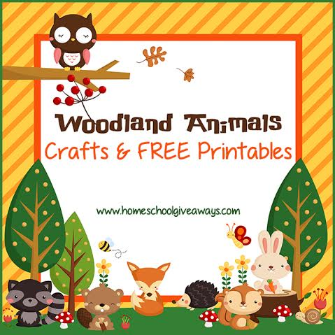Woodland Animals Crafts And FREE Printables - Homeschool Giveaways