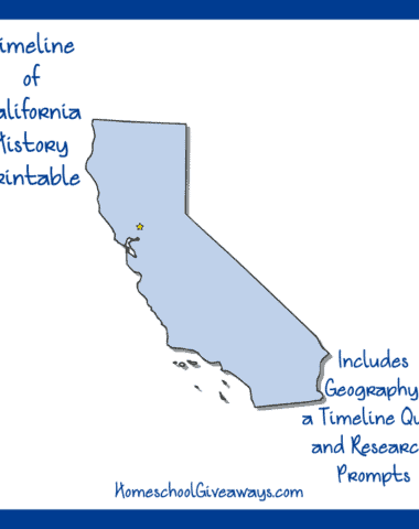 California State History Printable