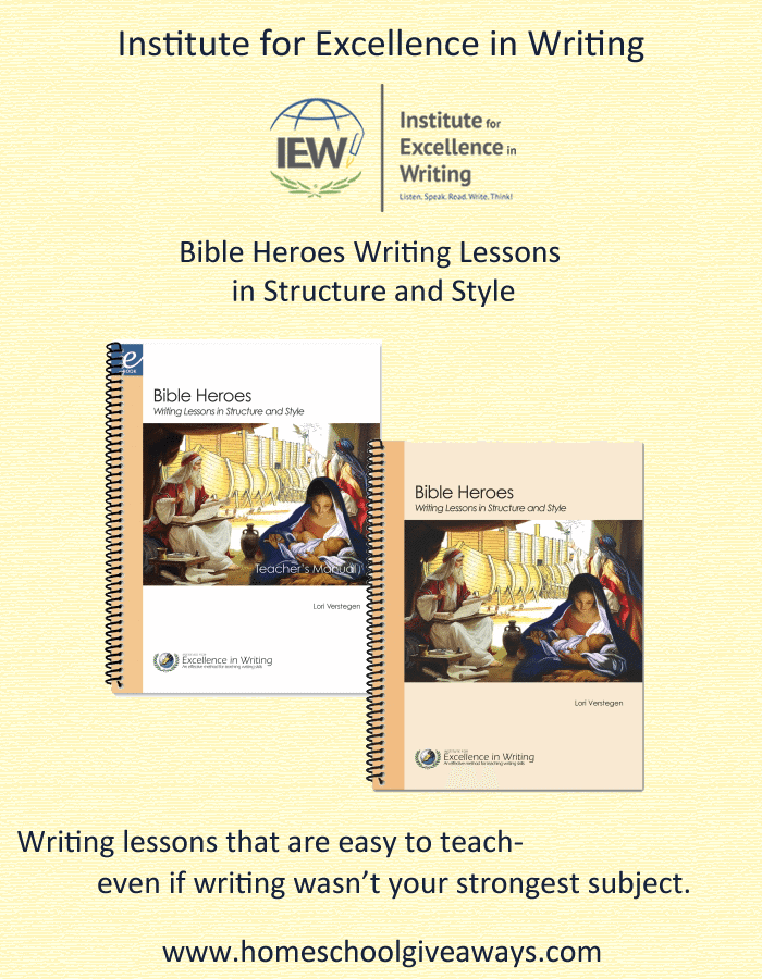IEW Bible Heroes Writing Review