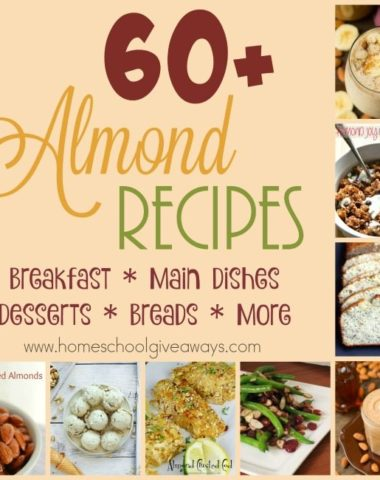 If you like Almonds, Almond flavoring or even almond flour...don't miss these delicious recipes! :: www.homeschoolgiveaways.com