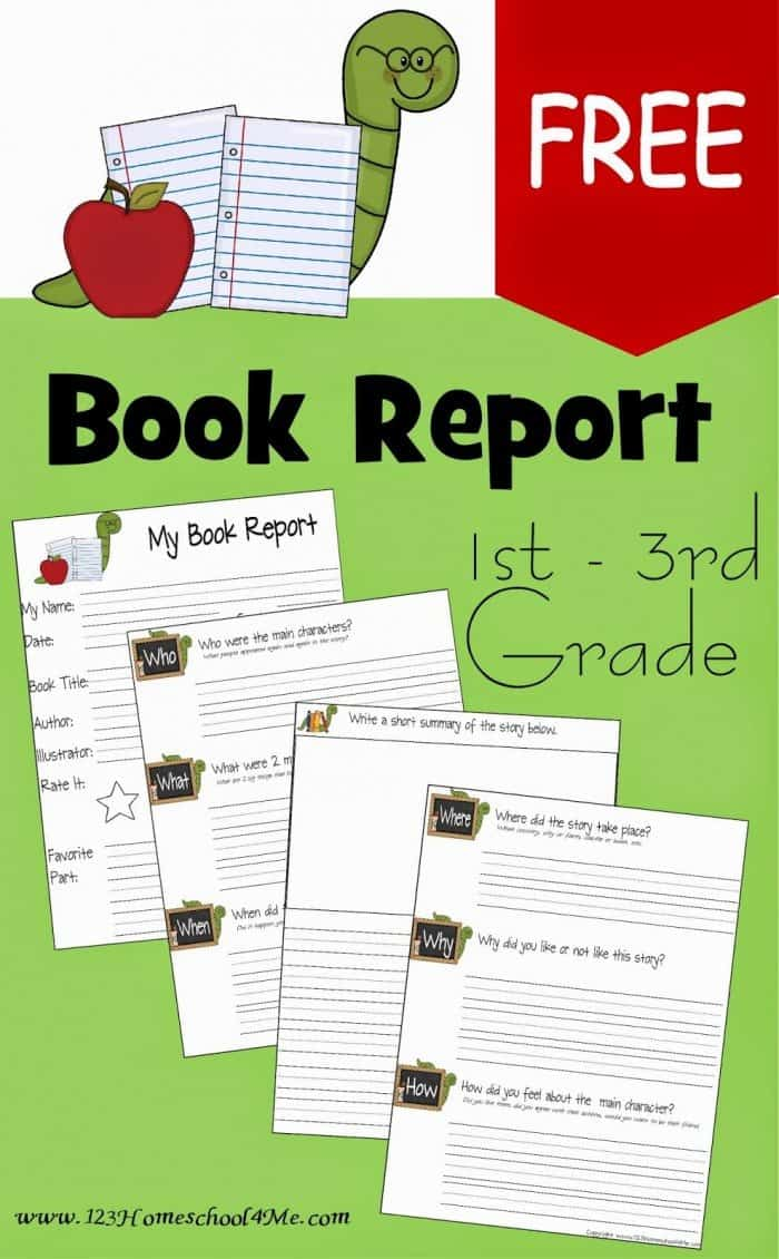 FREE 24st-24rd Grade Book Report Template - Homeschool Giveaways Within 1st Grade Book Report Template