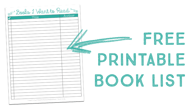 It's just a graphic of Refreshing Book List Printable