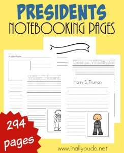 President Notebooking Pages_long