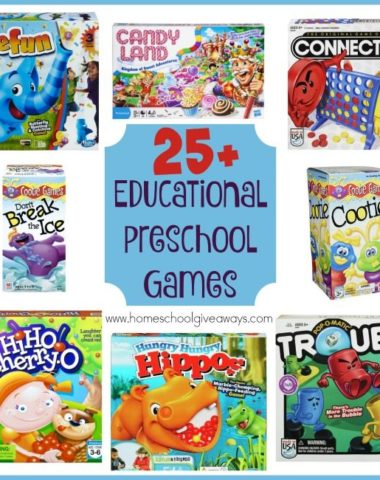 Teaching little ones can be fun with these educational preschool games! Have fun learning to count, work on colors, coordination and character building with these games! :: www.homeschoolgiveaways.com