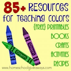 Teaching colors is a fun stage with preschoolers, but finding resources can be labor intensive. I've gathered a HUGE list for you here! :: www.homeschoolgiveaways.com