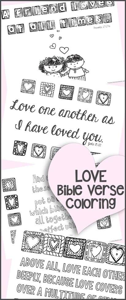 FREE Love Bible Verse Coloring Pages - Homeschool Giveaways