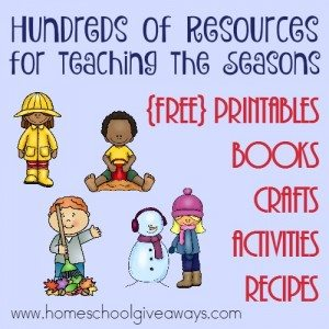 Looking for great resources to teach your preschoolers about the Four Seasons? Check out this GINORMOUS list of printables, books, crafts and MORE! :: www.homeschoolgiveaways.com