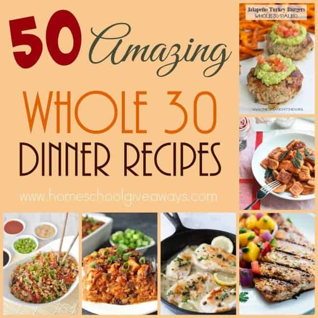 Sticking with your new eating style is easier when you have a plan. Check out these Amazing and Delicious Whole30 Dinner Recipes. :: www.homeschoolgiveaways.com
