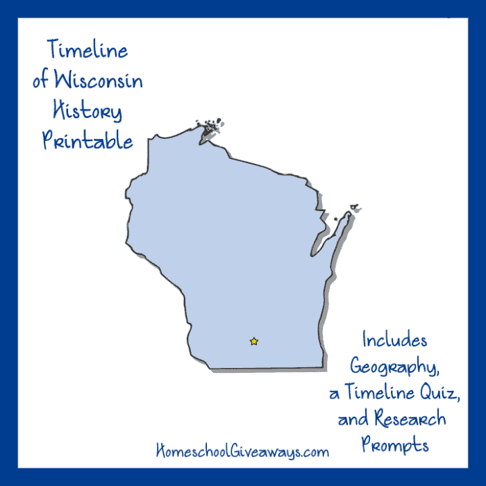 Wisconsin State History Printable