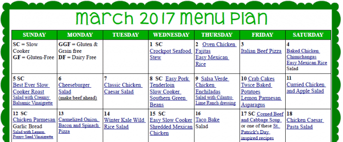 cropped March Meal Plan
