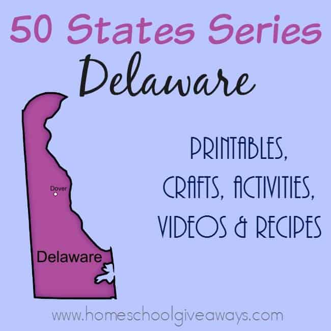 Learn all about the very first state, Delaware with these resources. Create a full unit study from printables to activities to recipes and more! :: www.homeschoolgiveaways.com