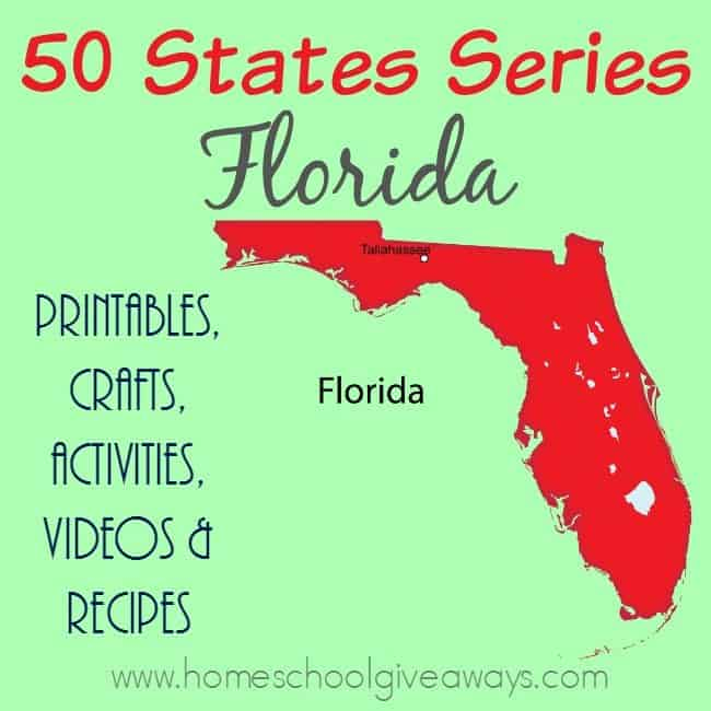 Studying the state of Florida? Check out this huge list of resources, recipes, activities and more! :: www.homeschoolgiveaways.com