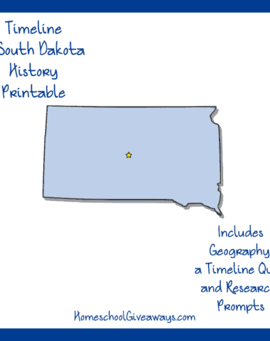 South Dakota History Printable