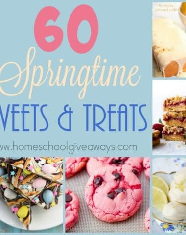 Springtime is the perfect time to bake some light, fresh and airy treats. Here are some delicious treats to get you started. :: www.homeschoolgiveaways.com