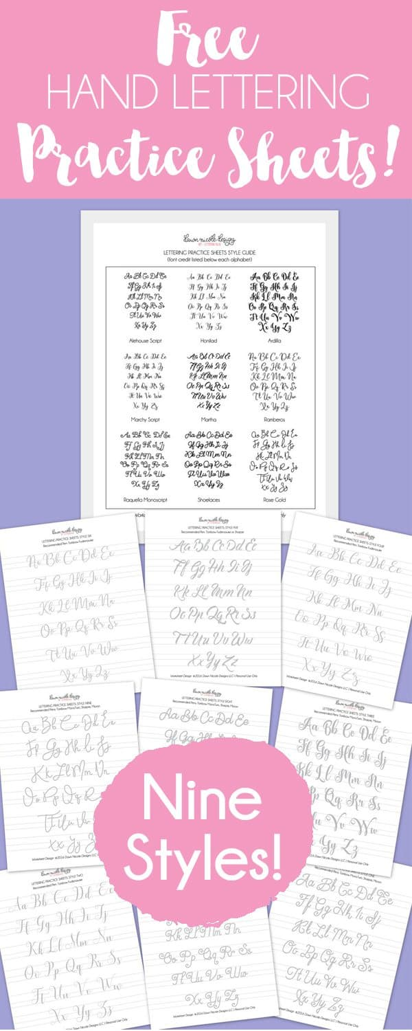 FreeHandLetteringPracticeSheets9Styles-PIN