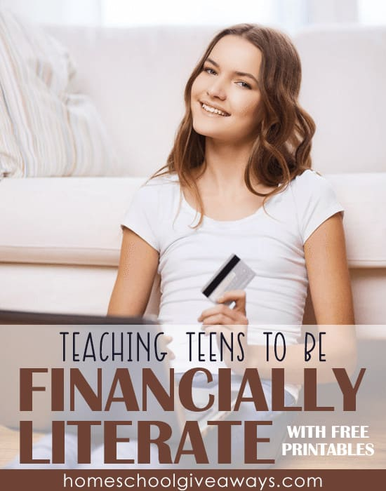 Teaching Teens to Be Financially Literate with FREE Printables