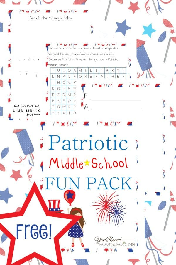 Free-Patriotic-Middle-School-Fun-Pack-By-Year-Round-HomeschoolingPIN